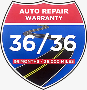 36 Month / 36,000 mile Auto Repair Warranty in South Windsor, CT
