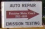 Auto repair shop in South Windsor CT - Precision Motor Coach - Follow this sign - we're in the building in the back!